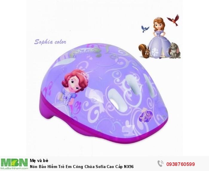 Nón Bảo Hiểm Trẻ Em Công Chúa Sofia Cao Cấp NX961