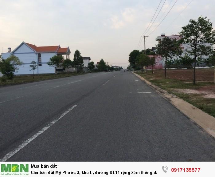Cần bán đất Mỹ Phước 3, khu L, đường DL14 rộng 25m thông dài