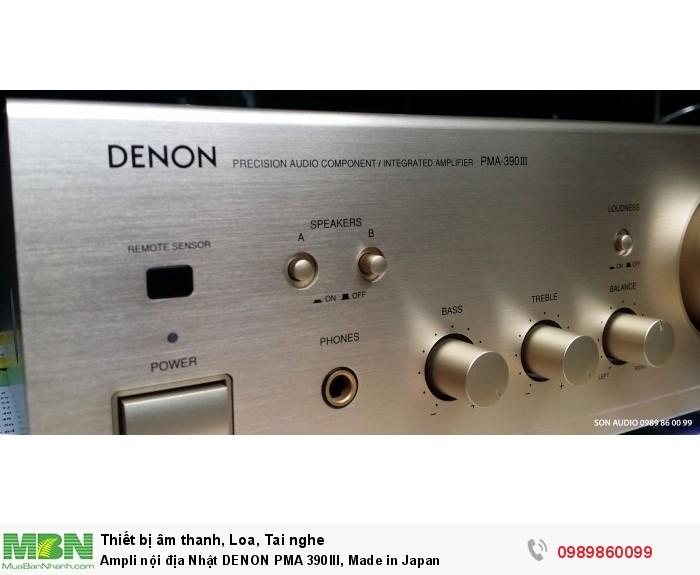 Ampli nội địa Nhật DENON PMA 390III, Made in Japan4