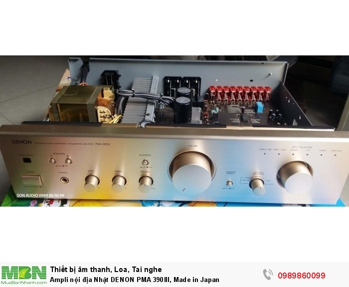 Ampli nội địa Nhật DENON PMA 390III, Made in Japan6
