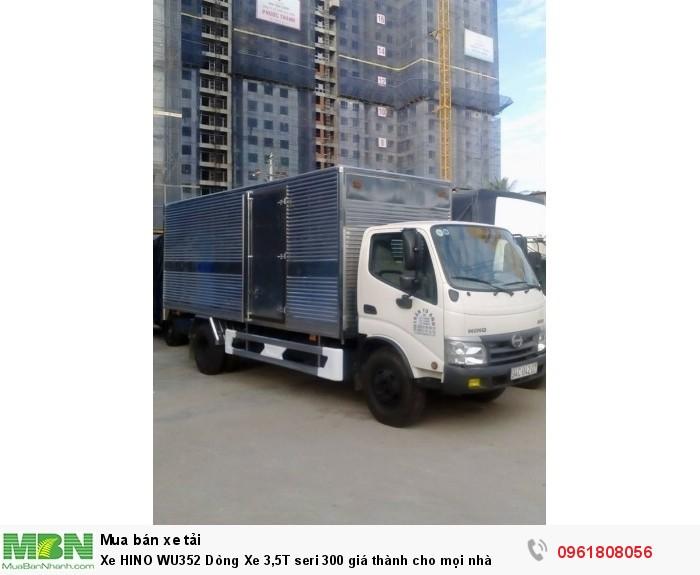 Xe HINO WU352 Dòng Xe 3,5T seri 300 giá thành cho mọi nhà