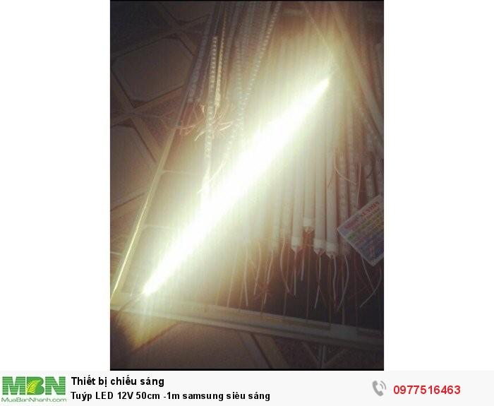 Tuýp LED 12V 50cm -1m samsung siêu sáng0