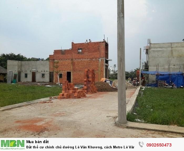 Đất thổ cư chính chủ dường Lê Văn Khương, cách Metro Lê Văn Khương 1km