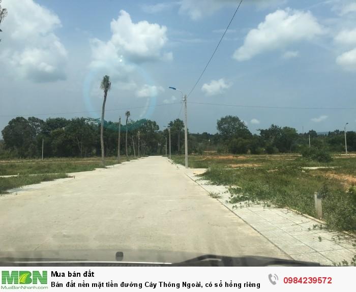 Bán đất nền mặt tiền đường Cây Thông Ngoài, có sổ hồng riêng, DT 119m2