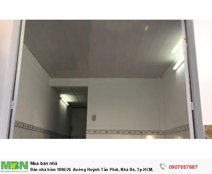 Bán nhà hẻm 1886/26 đường Huỳnh Tấn Phát, Nhà Bè, Tp.HCM. DT 3m x 9m