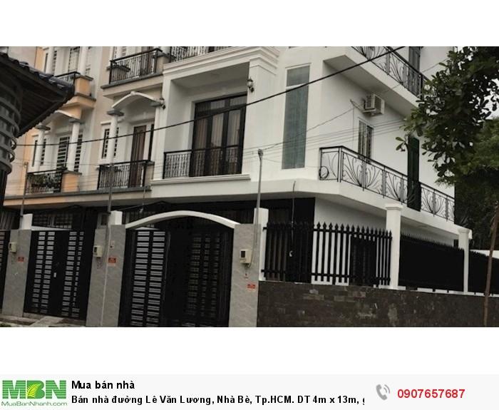 Bán nhà đường Lê Văn Lương, Nhà Bè, Tp.HCM. DT 4m x 13m