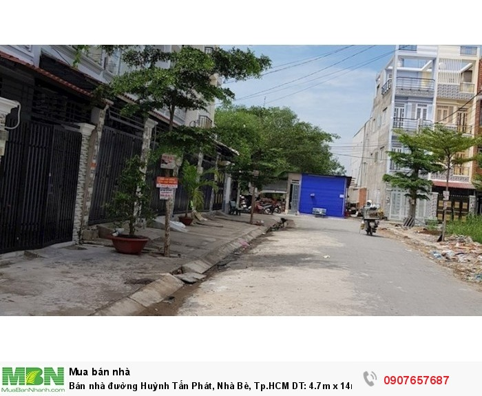 Bán nhà đường Huỳnh Tấn Phát, Nhà Bè, Tp.HCM DT: 4.7m x 14m, 2 lầu 4PN