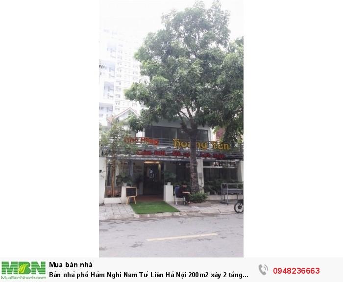 Bán nhà phố Hàm Nghi Nam Từ Liên Hà Nội 200m2 xây 2 tầng mặt tiền 10m