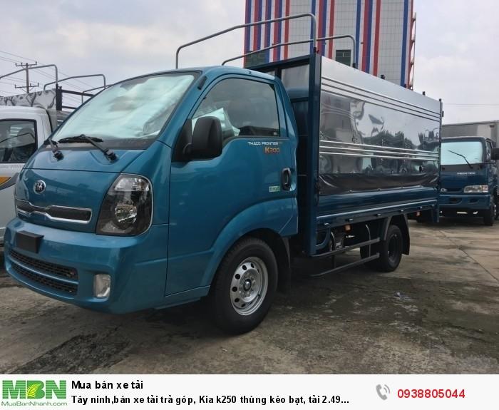 Tây ninh,bán xe Kia K250 thùng bạt tải 2.49 tấn, đời 2020, động cơ Hyundai0