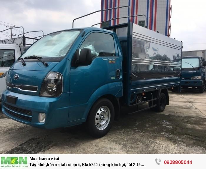 Tây ninh,bán xe Kia K250 thùng bạt tải 2.49 tấn, đời 2020, động cơ Hyundai1