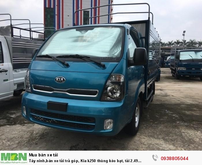Tây ninh,bán xe Kia K250 thùng bạt tải 2.49 tấn, đời 2020, động cơ Hyundai2