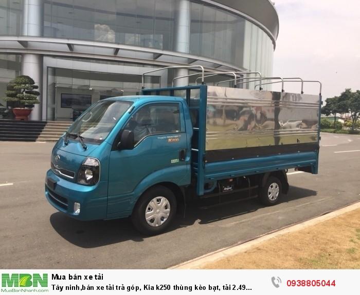 Tây ninh,bán xe Kia K250 thùng bạt tải 2.49 tấn, đời 2020, động cơ Hyundai4