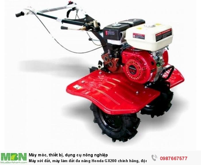 máy xới đất đa năng Honda GX200. đầy đủ chức năng xới đất, cày , bừa, đánh cỏ, lên luống tạo rãnh. động cơ 5,5hp siêu khỏe mang lại năng suất hiệu quả cho bà con0