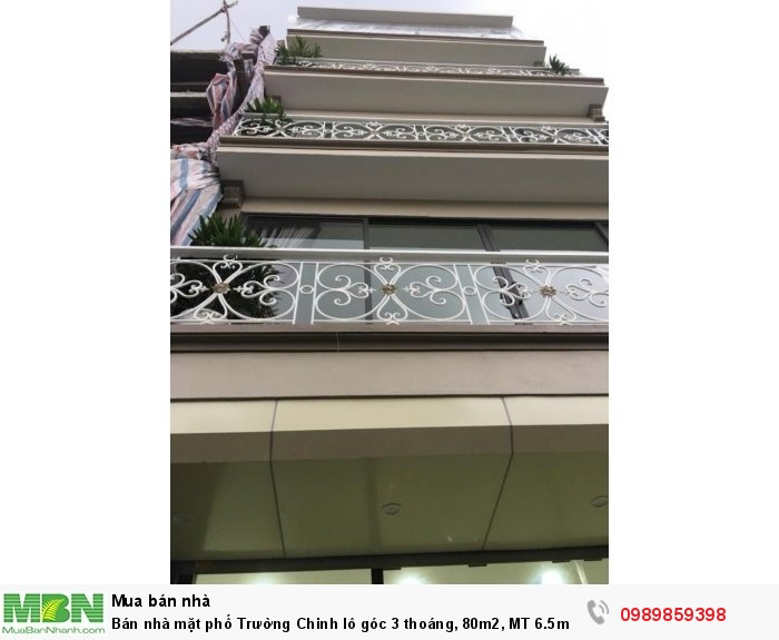 Bán nhà mặt phố Trường Chinh lô góc 3 thoáng, 80m2, MT 6.5m