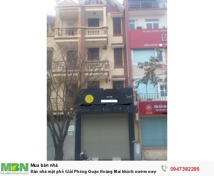 Bán nhà mặt phố Giải Phóng Quận Hoàng Mai khách nườm nượp ngày lẫn đêm 120m2 mặt tiền 4m