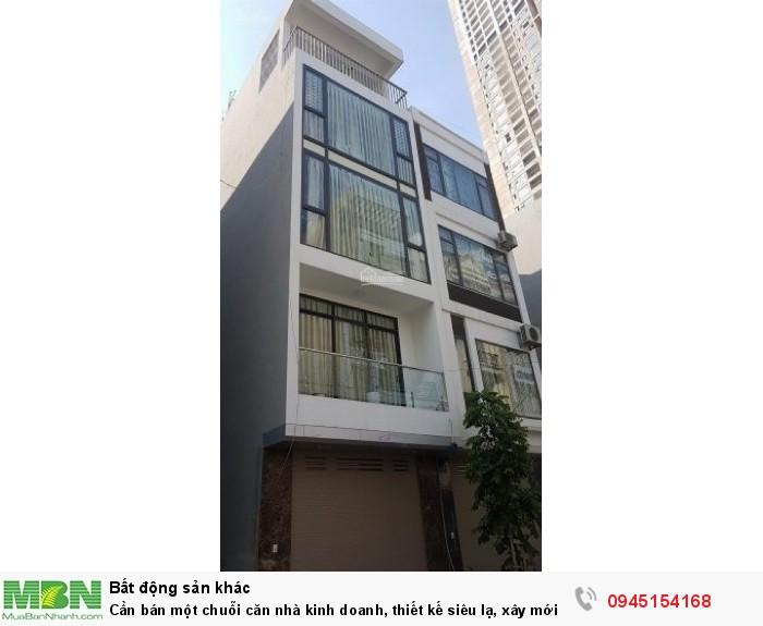 Cần bán một chuỗi căn nhà kinh doanh, thiết kế siêu lạ, xây mới tại đường Phan Đình Giót