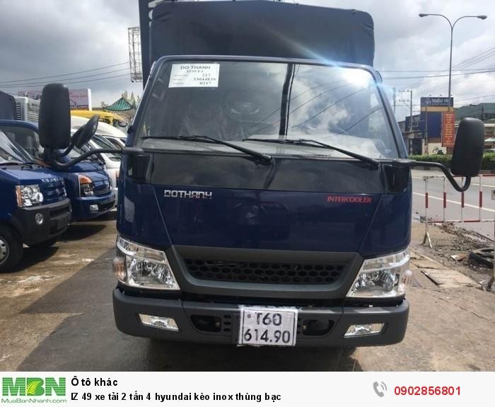 IZ 49 xe tải 2 tấn 4 hyundai kèo inox thùng bạc 6