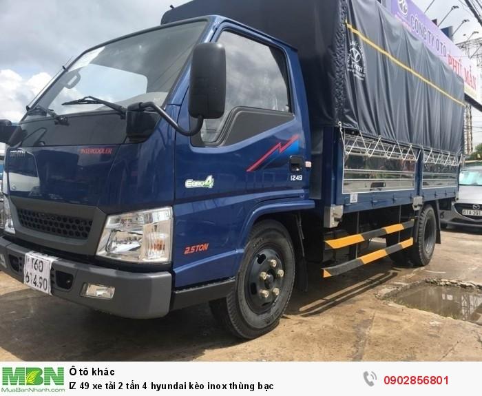 IZ 49 xe tải 2 tấn 4 hyundai kèo inox thùng bạc 7