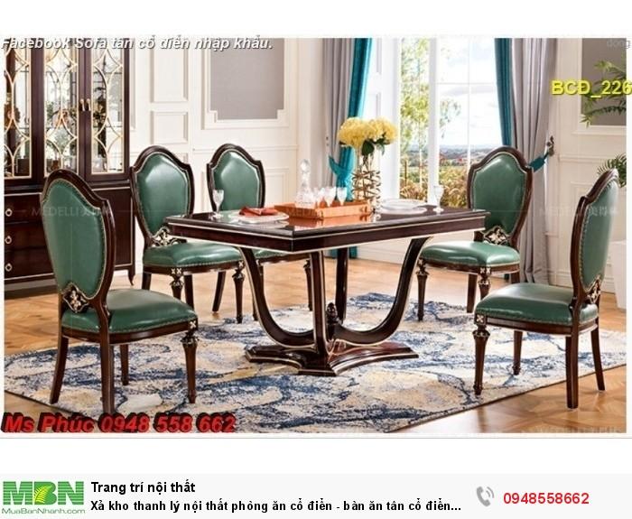bộ bàn ăn cổ điển Vũng Tàu3