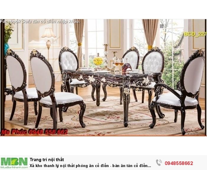 bàn ăn tân cổ điển đẹp Bình Tân4