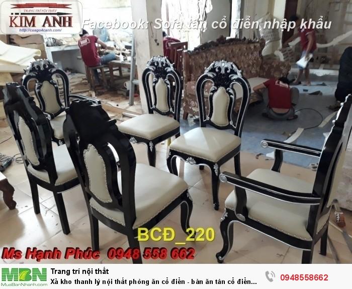 bàn ghế phòng ăn tân cổ điển Phú nhuận, Bình thạnh13