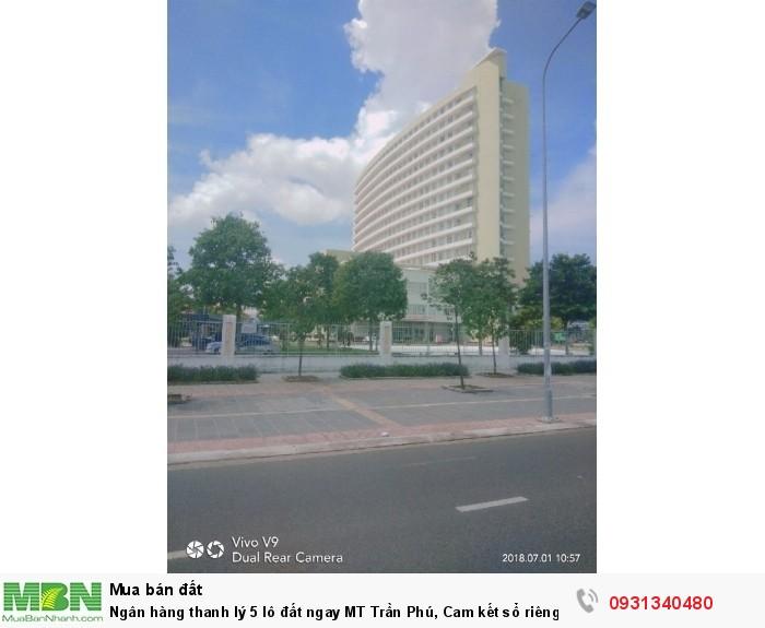 Ngân hàng thanh lý 5 lô đất ngay MT Trần Phú, Cam kết sổ riêng từng nền, thổ cư