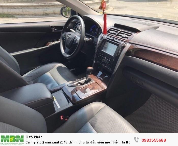 Camry 2.5Q sản xuất 2016 chính chủ từ đầu siêu mới biển Hà Nội 3