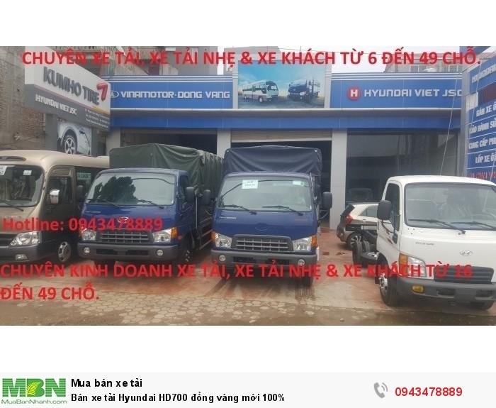 Bán xe tải Hyundai HD700 đồng vàng mới 100% 8