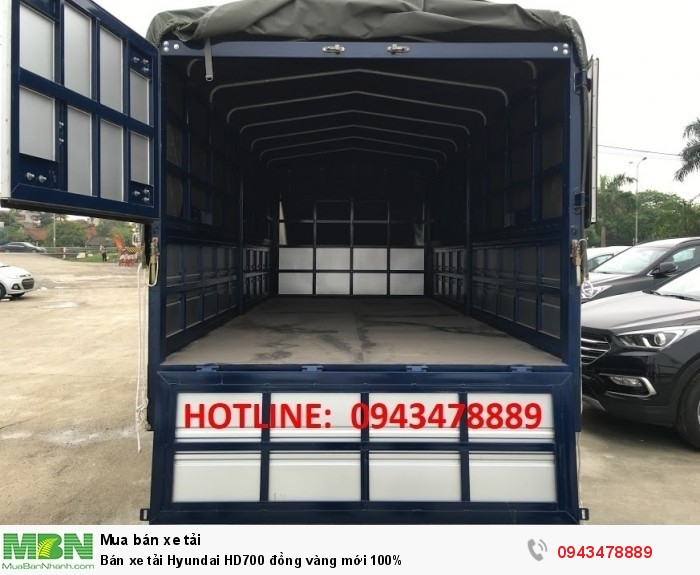 Bán xe tải Hyundai HD700 đồng vàng mới 100% 10