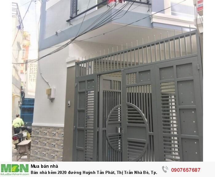 Bán nhà hẻm 2020 đường Huỳnh Tấn Phát, Thị Trấn Nhà Bè, Tp.HCM DT 3m x 11m