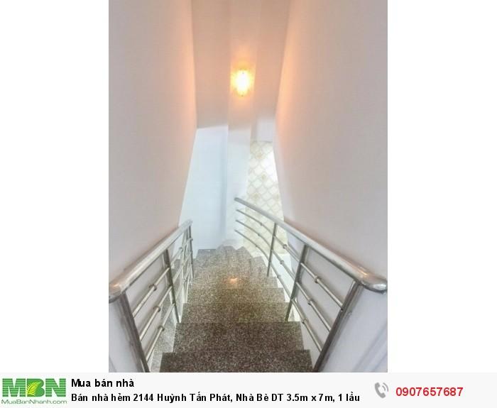 Bán nhà hẻm 2144 Huỳnh Tấn Phát, Nhà Bè DT 3.5m x 7m, 1 lầu 1 trệt
