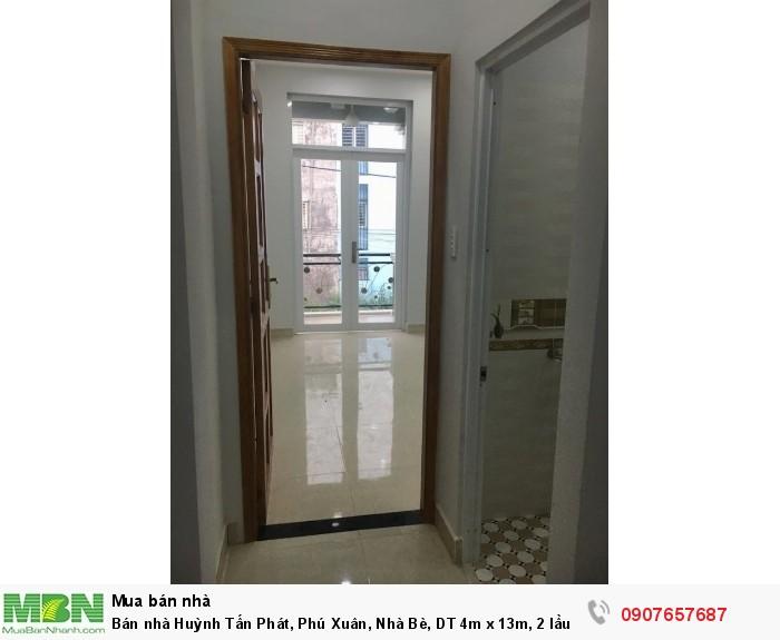 Bán nhà Huỳnh Tấn Phát, Phú Xuân, Nhà Bè, DT 4m x 13m, 2 lầu 4PN