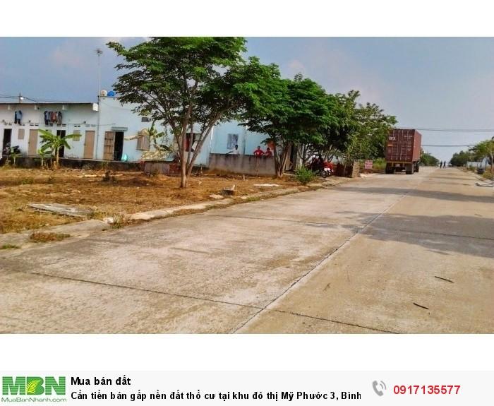 Cần tiền bán gấp nền đất thổ cư tại khu đô thị Mỹ Phước 3, Bình Dương