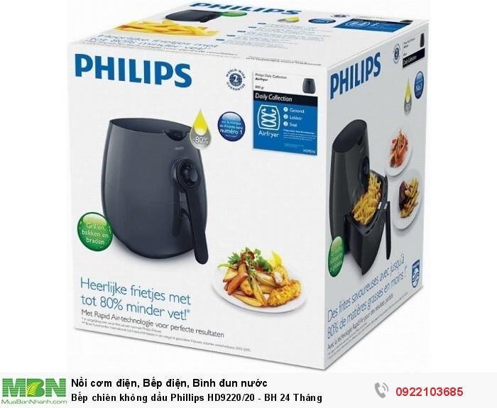 Bếp chiên không dầu Phillips HD9220/20 - BH 24 Tháng1
