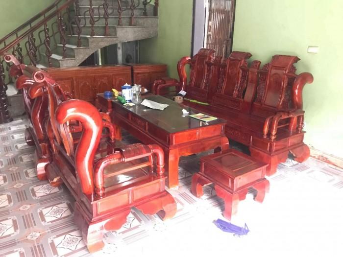 Bộ bàn ghế tần thủy hoàng gỗ xà cừ8