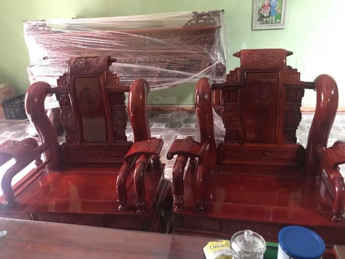 Bộ bàn ghế tần thủy hoàng gỗ xà cừ9