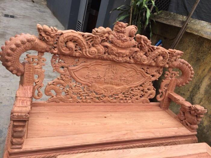 Bộ bàn ghế giả cổ nghê khuỳnh gỗ hương đá4