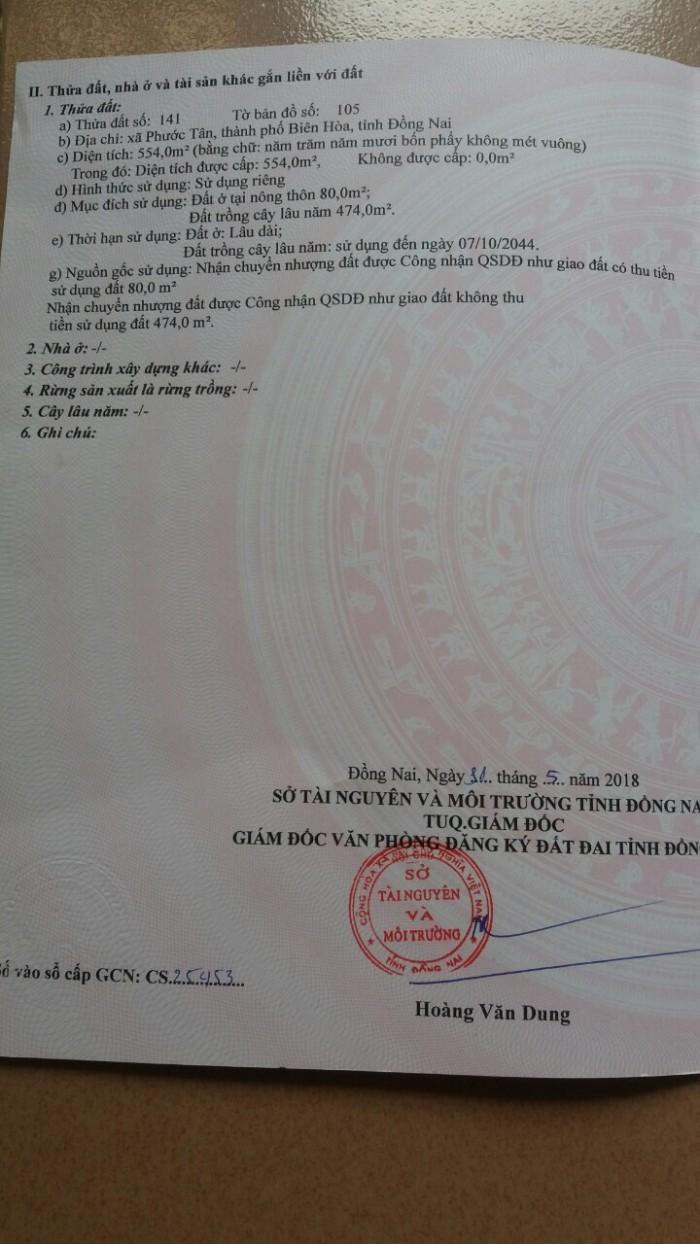 Bán Đất Phước Tân 10X55 Có 80M2 Thổ Cư