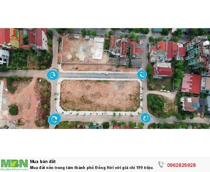 Mua đất nền trung tâm thành phố Đồng Hới với giá chỉ 199 triệu bao sổ