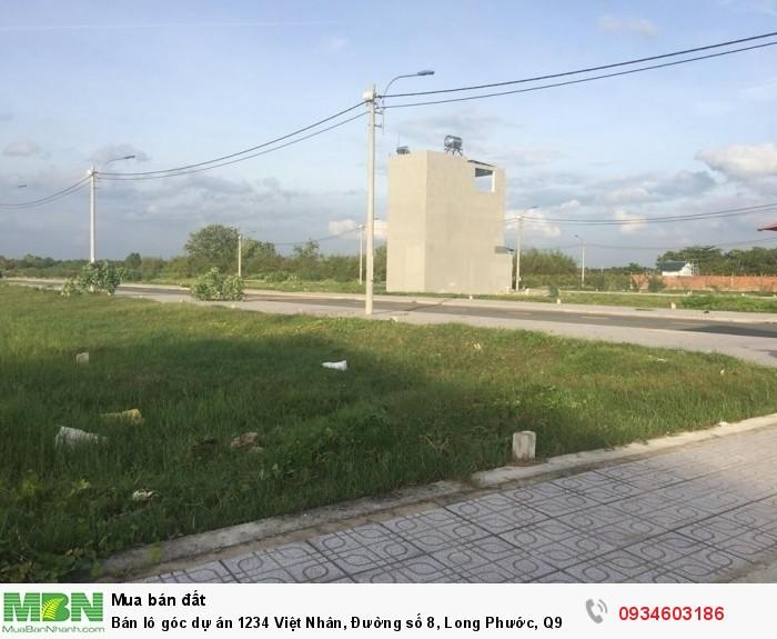 Bán lô góc dự án 1234 Việt Nhân, Đường số 8, Long Phước, Q9