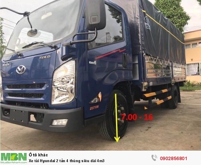 Xe tải Hyundai 2 tấn 4 thùng siêu dài 4m3 0