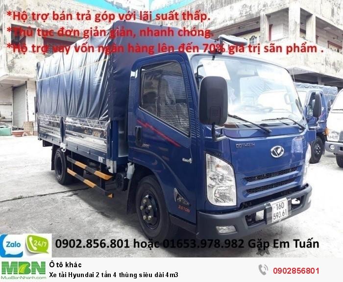 Xe tải Hyundai 2 tấn 4 thùng siêu dài 4m3 1