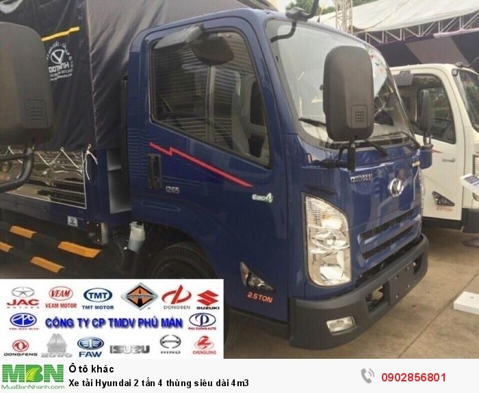 Xe tải Hyundai 2 tấn 4 thùng siêu dài 4m3 3