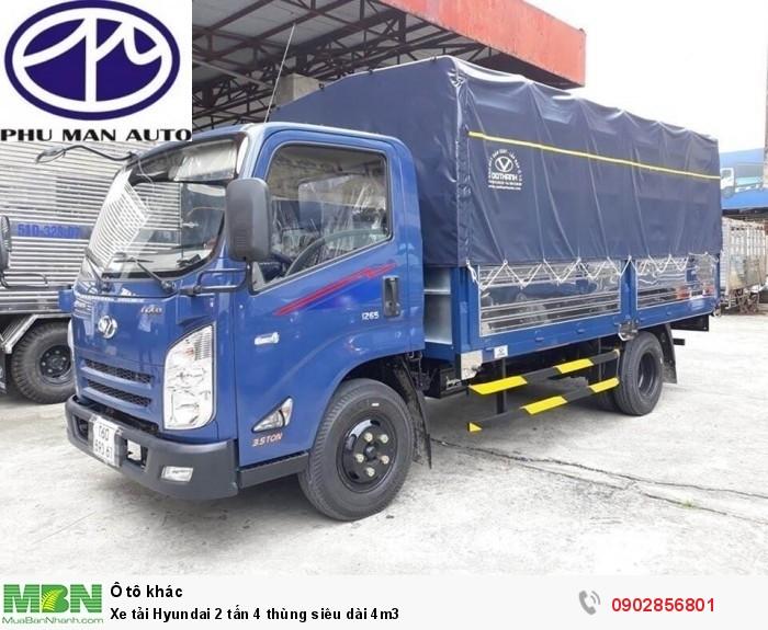 Xe tải Hyundai 2 tấn 4 thùng siêu dài 4m3 4
