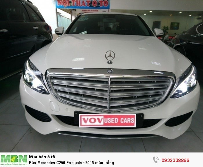 Bán Mercedes C250 Exclusive 2015 màu trắng