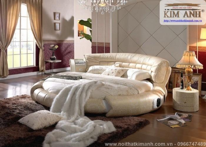 [2] Những mẫu giường tròn đẹp bọc nệm giá rẻ dưới 15 triệu