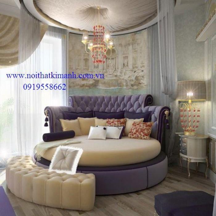 [8] Những mẫu giường tròn đẹp bọc nệm giá rẻ dưới 15 triệu