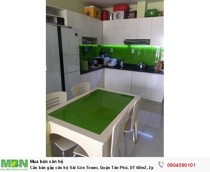 Cần bán gấp căn hộ Sài Gòn Tower, Quận Tân Phú, DT 60m2, 2pn