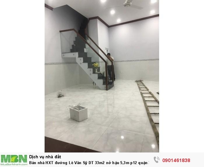 Bán nhà HXT đường Lê Văn Sỹ DT 33m2 nở hậu 5,3m p12 quận 3.