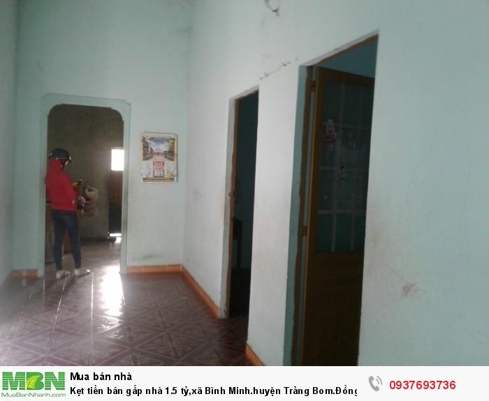Kẹt tiền bán gấp nhà 1.5 tỷ,xã Bình Minh.huyện Trảng Bom.Đồng nai.dt :258m2.